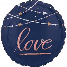 Folienballon Hochzeit Love Schwarz Art.39717 Partydeko Ballon Love