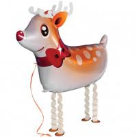 Folienballon Weihnachten XL Rentier Airwalker Weihnachtsmann Ballon