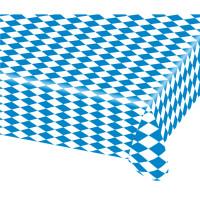 Oktoberfest Tischdecke Partydeko Blau Weiss Oktober