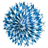 Oktoberfest Party Fächer Rosette ø 50cm Partydeko Blau Weiss
