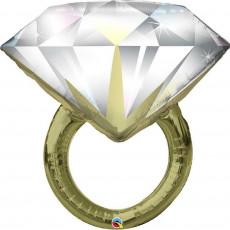 Folienballon Hochzeit Jumbo XXL Ring Diamant Partydeko Ballon