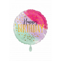 Folienballon Happy Birthday Art. 39949 Ballon Geburtstag Pink