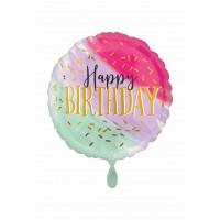 Folienballon Jumbo Happy Birthday Art. 39954 Ballon Geburtstag Pink