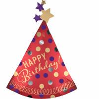 Folienballon Jumbo Hut Happy Birthday Art. 39061 Ballon Geburtstag
