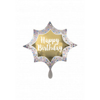 Folienballon Jumbo Stern Happy Birthday Art. 39060 Ballon Geburtstag