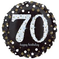Folienballon Zahlenballon Sparkling Zahl 70 Partdeko Geburtstag Ballon