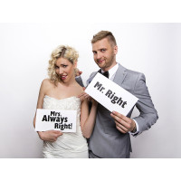 Hochzeit Wedding Mrs Right Photo Props Art.TDZ3 Partydeko