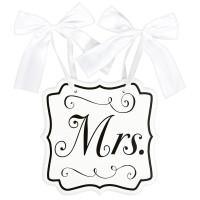 Hochzeit Wedding Schild Mrs. Partydeko