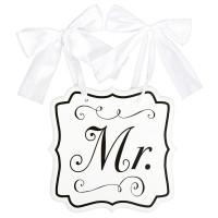Hochzeit Wedding Schild Mr. Partydeko
