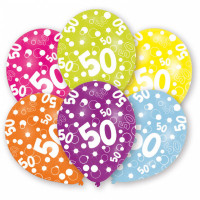 Ballon Happy Birthday Zahl 50 Art.996546 Partydeko Geburtstag Luftballons