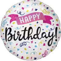 Folienballon Happy Birthday Art. 39951 Partydeko Geburtstag Ballon
