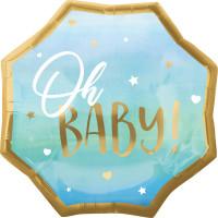 Folienballon Oh Baby Art. 39731 Partydeko Babyparty Geburt Ballon