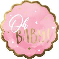 Folienballon Oh Baby Art. 39725 Partydeko Babyparty Geburt Ballon