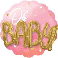 Folienballon Jumbo XXL Oh Baby Art. 39729 Partydeko Babyparty Geburt Ballon