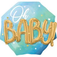 Folienballon Jumbo XXL Oh Baby Art. 39734 Partydeko Babyparty Geburt Ballon