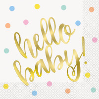 Hello Baby Servietten Babyparty Babyshower Geburt
