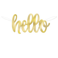 Hello Baby Girlande Babyparty Babyshower Geburt