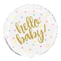Hello Baby Folienballon Ballon Babyparty Geburt