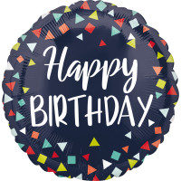 Folienballon Happy Birthday Art. 40677 Partydeko Geburtstag Ballon
