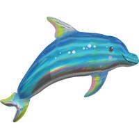Folienballon Delfin Blau Delphin Partydeko Ballon Geburtstag
