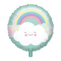 Folienballon Wolke Regenbogen Partydeko Ballon Geburtstag