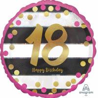 Folienballon Zahlenballon Milestone Zahl 18 Partdeko Geburtstag Ballon