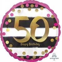 Folienballon Zahlenballon Milestone Zahl 50 Partdeko Geburtstag Ballon