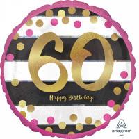Folienballon Zahlenballon Milestone Zahl 60 Partdeko Geburtstag Ballon