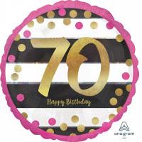 Folienballon Zahlenballon Milestone Zahl 70 Partdeko Geburtstag Ballon