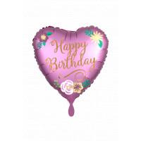 Folienballon Happy Birthday Herz Art. 39066 Partydeko Geburtstag Ballon