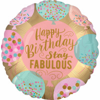 Folienballon Happy Birthday Art. 38074 Partydeko Ballon Geburtstag Bunt