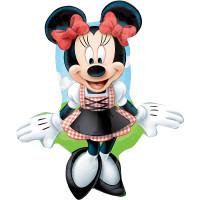 Folienballon Minnie Mouse Dirndl Disney Partydeko Kindergeburtstag