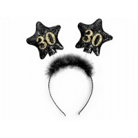 Haarreifen Zahl 30 Partydeko 30. Geburtstag