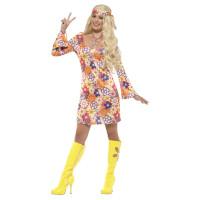 Hippie Kleid Flower Power Kostüm 60er 70er Jahre