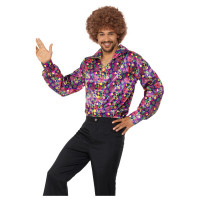 Hippie Hemd 60er 70er Jahre Kostüm Flower Power Peace