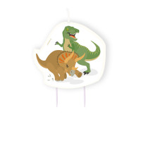 Dino Dinosaurier Kerze Candle Partydeko Kindergeburtstag