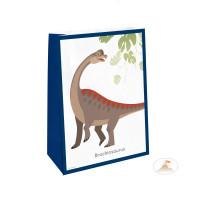 Dino Dinosaurier Geschenktüten mit Sticker Partydeko Kindergeburtstag