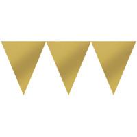 Banner Gold Art. 120099 Partydeko Geburtstag Girlande