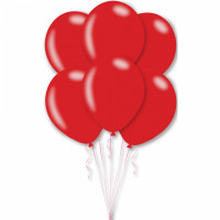 Luftballons Rot Metallic Partydeko Geburtstag Rot Glänzend 10 Stück