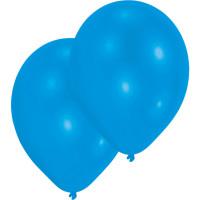 Luftballons Blau Metallic Partydeko Geburtstag Blue 10 Stück
