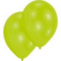Luftballons Lime Grün Partydeko Geburtstag Green 10 Stück