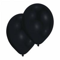 Luftballons Schwarz Partydeko Geburtstag Black 10 Stück