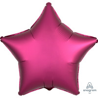 Folienballon Stern Satin Rot Burgund Art.36829 Partydeko Ballon Geburtstag
