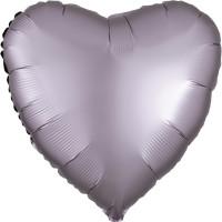Folienballon Herz Satin Grau Art.39920 Partydeko Ballon Valentinstag Hochzeit