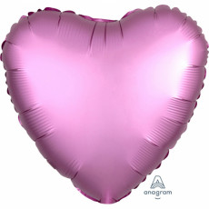 Folienballon Herz Satin Pink Flamingo Art.36822 Partydeko Ballon Valentinstag Hochzeit