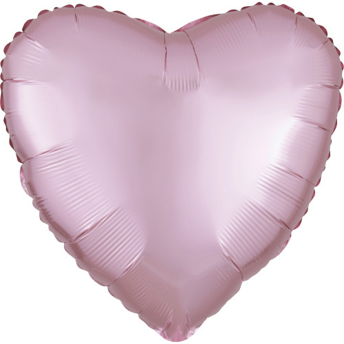 Folienballon Herz Satin Pastel Pink Rosa Art.39908 Partydeko Ballon Valentinstag Hochzeit