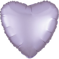 Folienballon Herz Satin Pastel Lila Art.39905 Partydeko Ballon Valentinstag Hochzeit