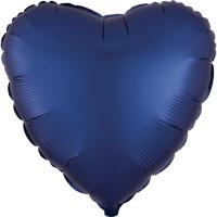Folienballon Herz Satin Navy Blau Art.39961 Partydeko Ballon Valentinstag Hochzeit