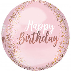 Folienballon Happy Birthday Orbz Art. 41103 Partydeko Ballon Geburtstag