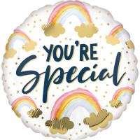 Folienballon you´Re Special Regenbogen Partydeko Ballon Geburtstag